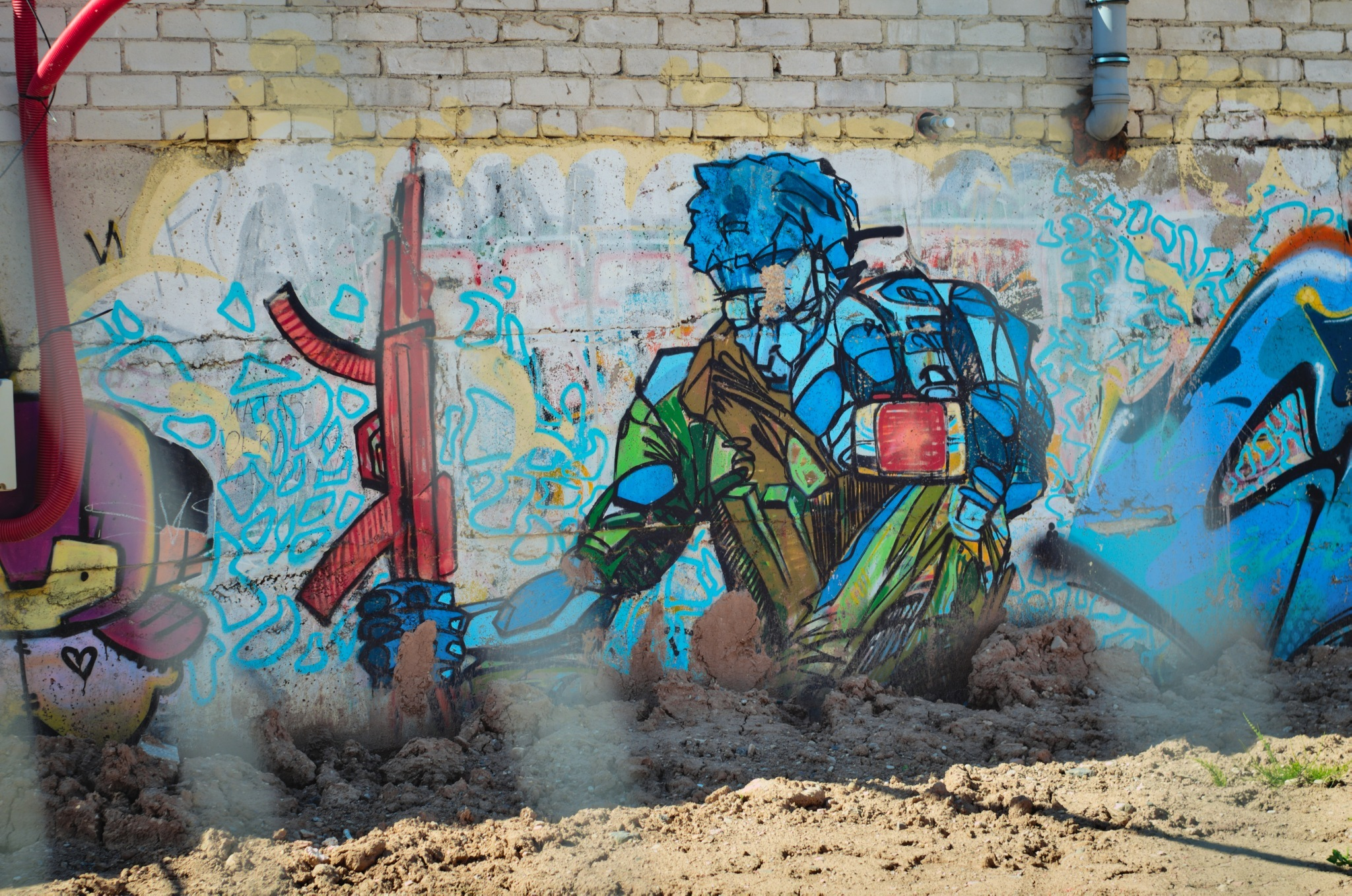 Gatvės menas - karys - Vilmantas Ramonas