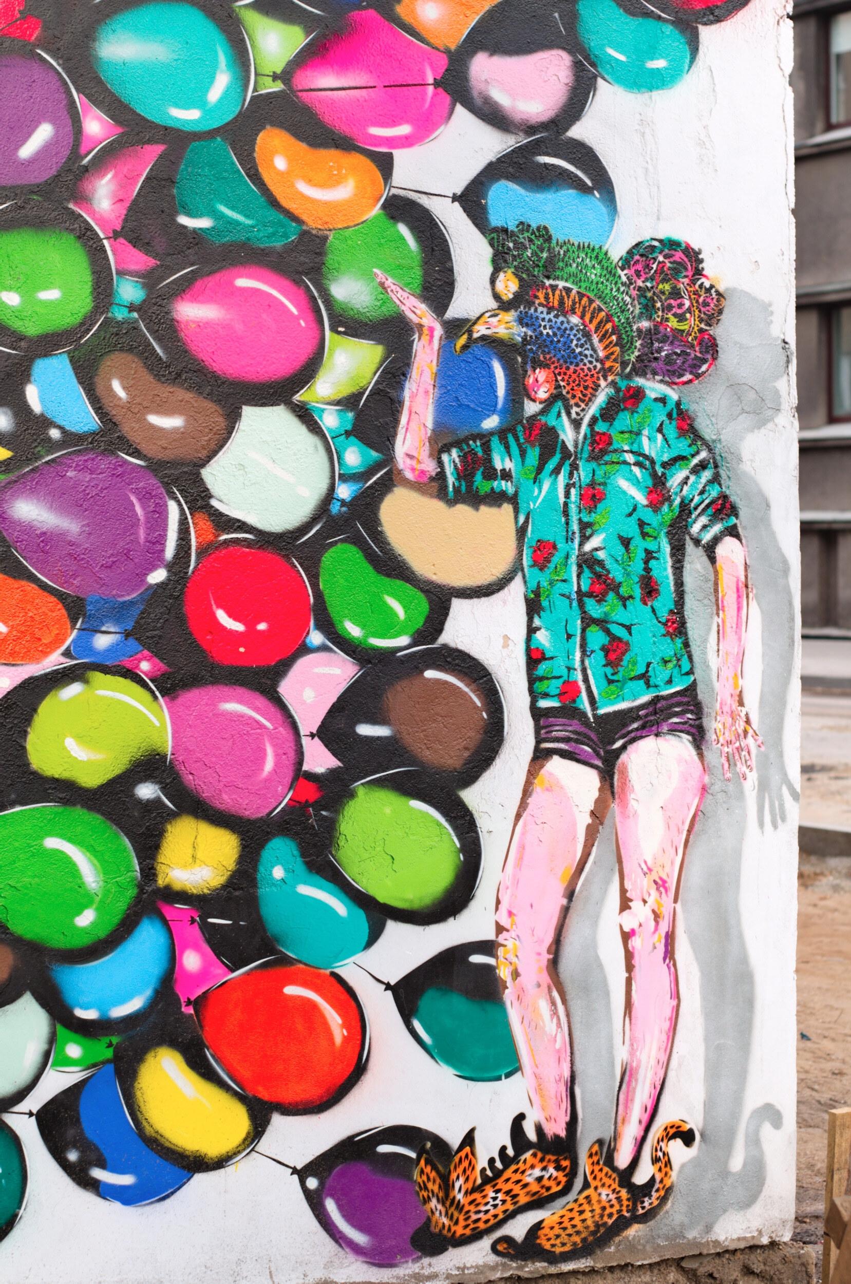 Balionai - gatvės menas